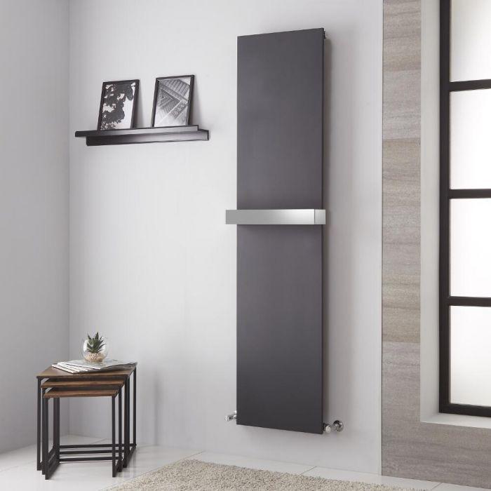Lazzarini Way - Ischia - Anthracite Vertical Designer Radiator - 1800mm x 450mm