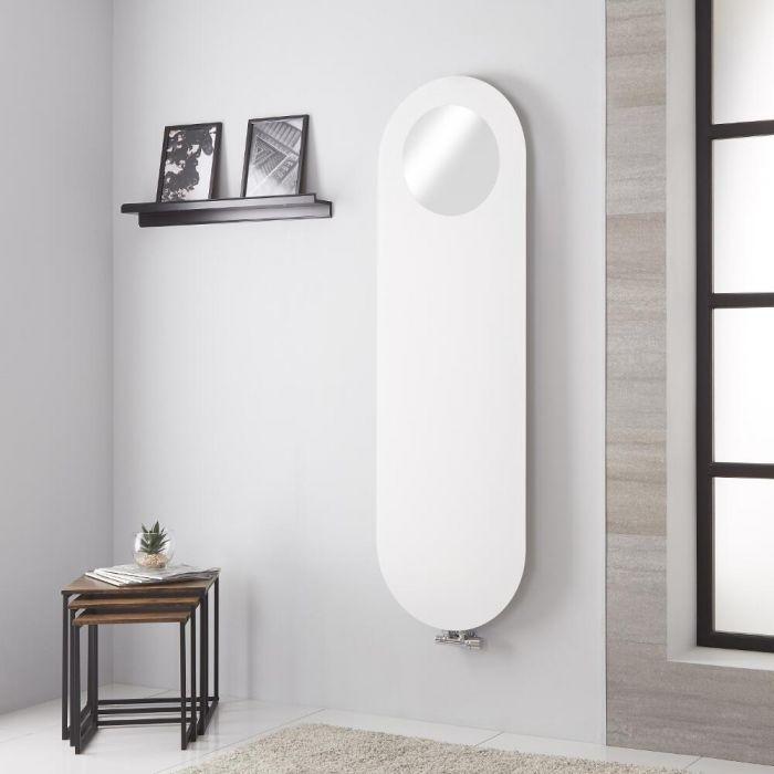 Lazzarini Way - Vulcano - White Vertical Mirrored Designer Radiator 1595mm x 495mm