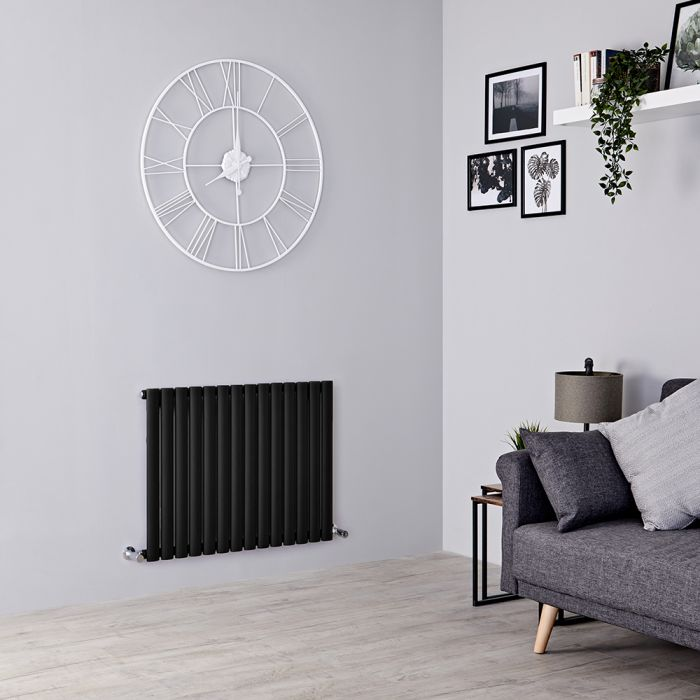 Milano Aruba Electric - Black Horizontal Designer Radiator 635mm x 826mm