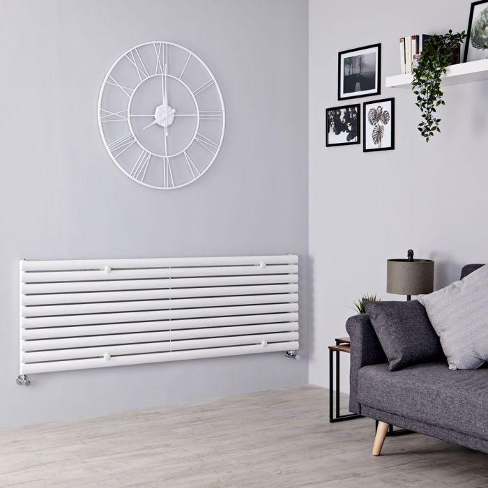 Milano Aruba - White Horizontal Designer Radiator 590mm x 1600mm