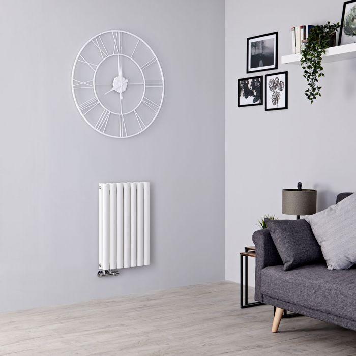 Milano Aruba Flow - White Horizontal Double Panel Designer Radiator 635mm x 413mm