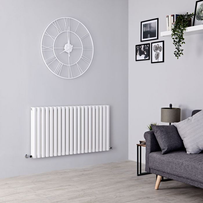 Milano Aruba - White Horizontal Designer Double Radiator 635mm x 1180mm
