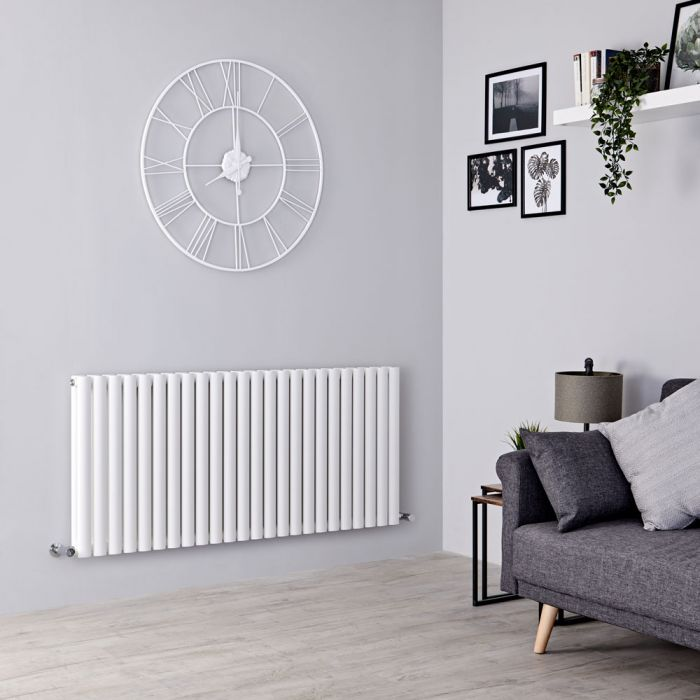 Milano Aruba - White Horizontal Designer Double Radiator 635mm x 1411mm
