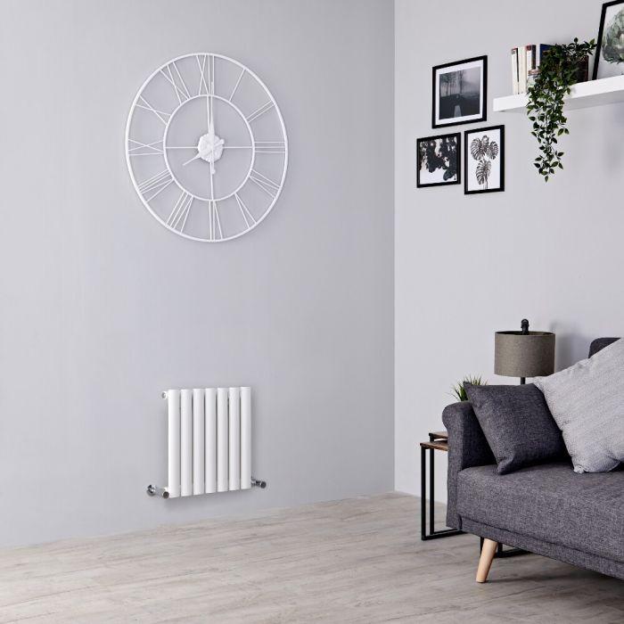 Milano Aruba - White Horizontal Designer Radiator 400mm x 413mm