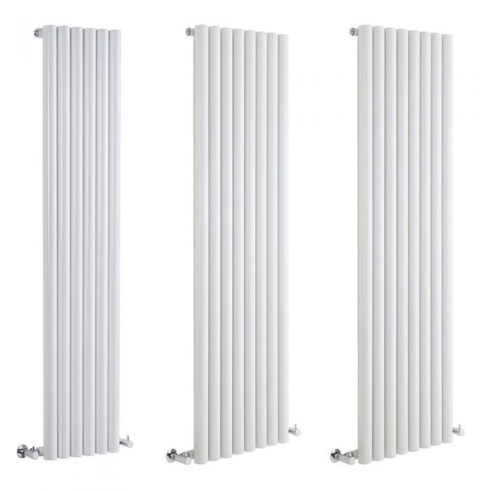 Milano Java - White Vertical Designer Radiator - Various Sizes