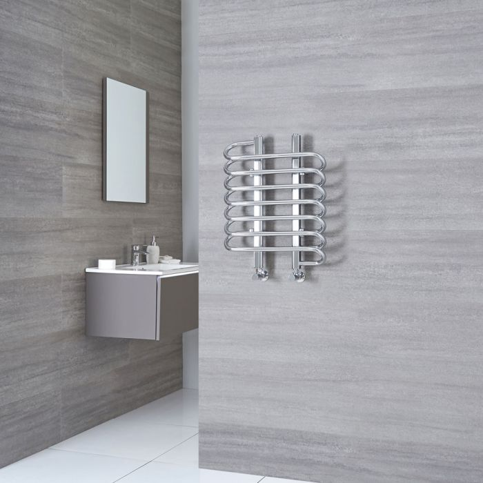Milano Select - Chrome Designer Heated Towel Rail 610mm x 500mm