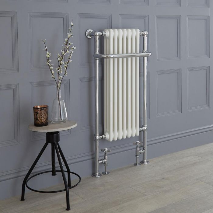 Milano Elizabeth - White Traditional Heated Towel Rail 1130mm x 553mm