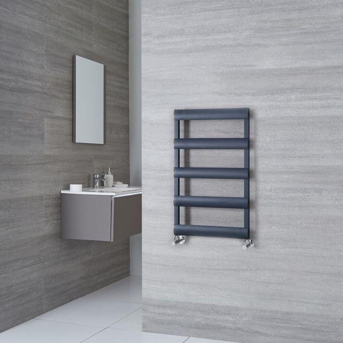 Milano Passo - Anthracite Aluminium Designer Towel Rail 790mm x 500mm