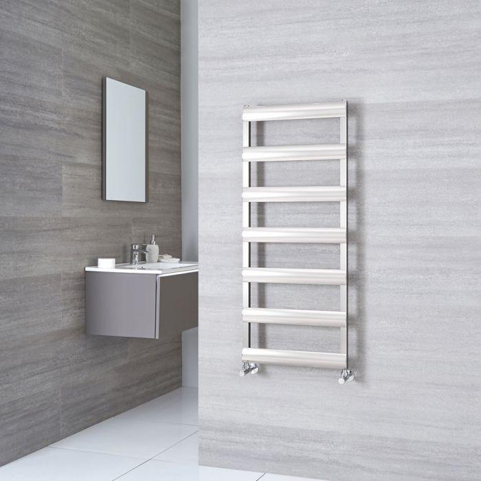 Milano Passo - Brushed Chrome Aluminium Designer Towel Rail 1190mm x 500mm