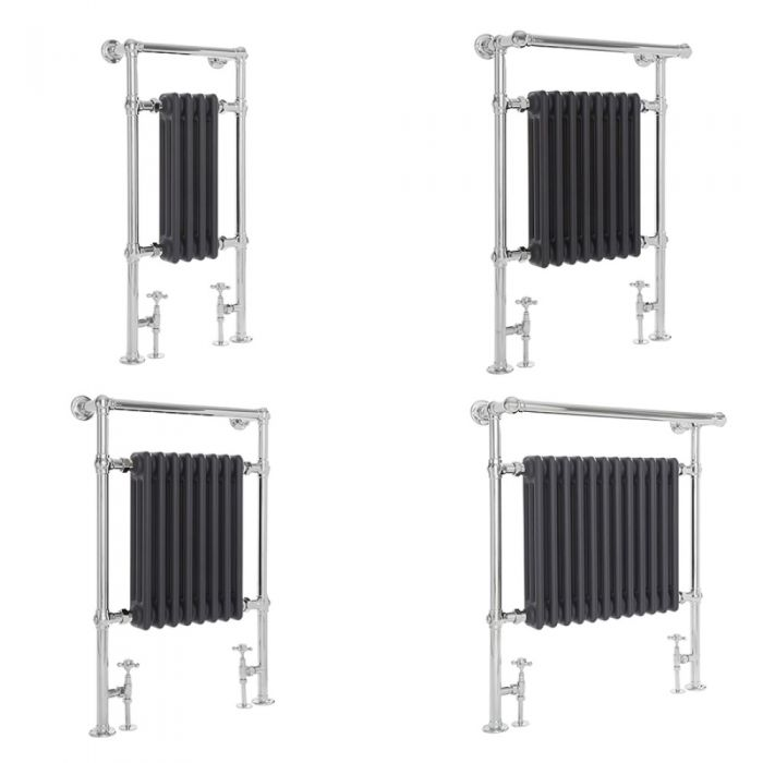 Milano Elizabeth - Anthracite Traditional Heated Towel Rail - Various Sizes