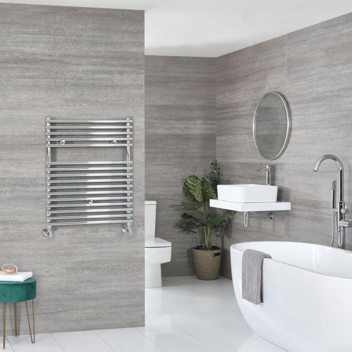 Milano Arno - Bar on Bar Chrome Heated Towel Rail 730mm x 450mm