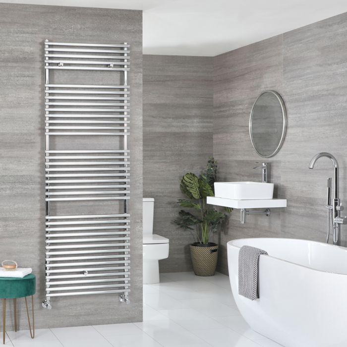 Milano Arno - Bar on Bar Chrome Heated Towel Rail 1738mm x 450mm