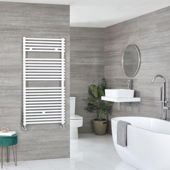 Milano Arno - Bar on Bar White Heated Towel Rail 1190mm x 600mm