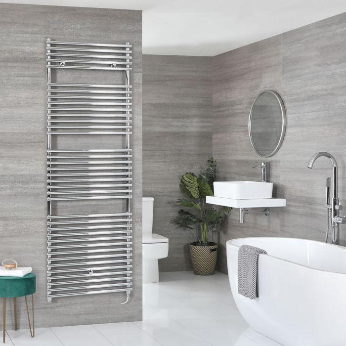 Milano Arno Electric - Chrome Bar on Bar Heated Towel Rail 1738mm x 600mm