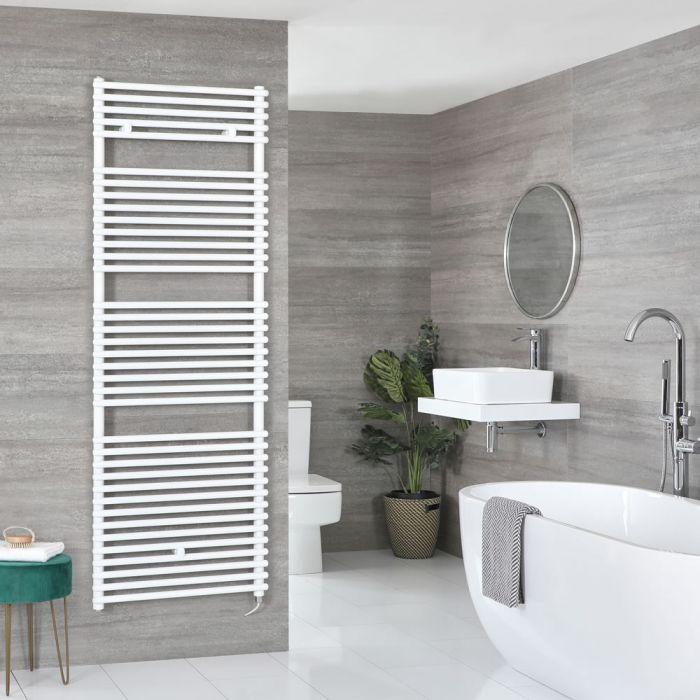 Milano Arno Electric - White Bar on Bar Heated Towel Rail 1738mm x 600mm