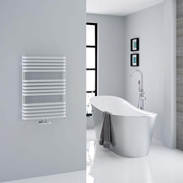 Milano Bow - White D Bar Heated Towel Rail 736mm x 500mm