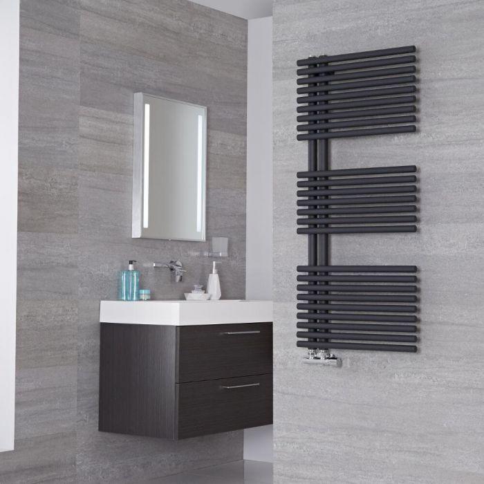 Lazzarini Way - Bari - Anthracite Designer Heated Towel Rail - 1120mm x 500mm