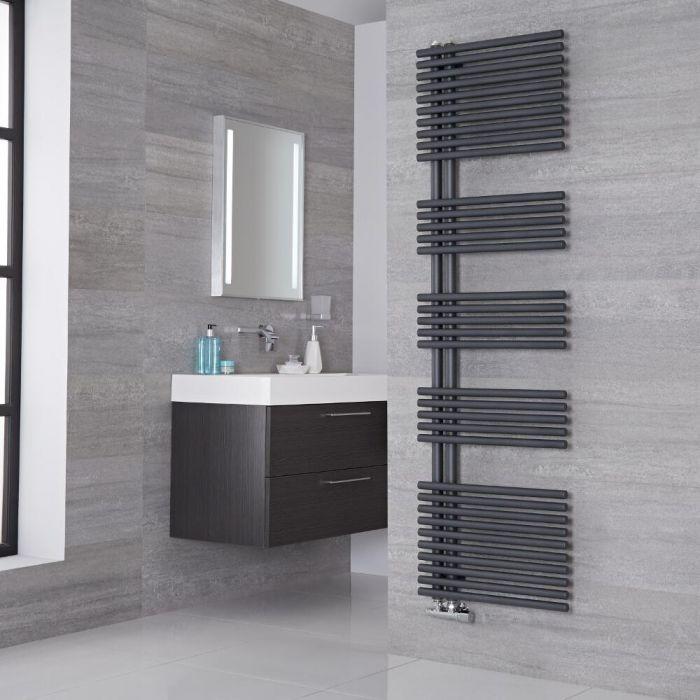 Lazzarini Way - Bari - Anthracite Designer Heated Towel Rail - 1700mm x 500mm