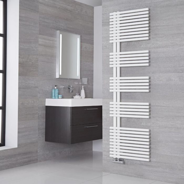 Lazzarini Way - Bari - Mineral White Designer Heated Towel Rail - 1700mm x 500mm