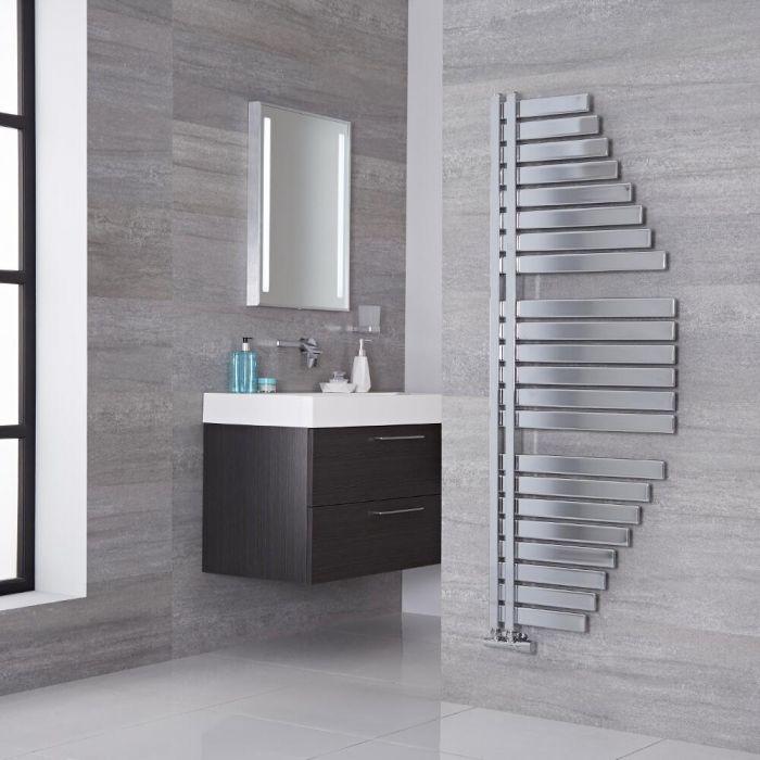 Lazzarini Way - Spinnaker - Chrome Designer Heated Towel Rail - 1460mm x 547mm