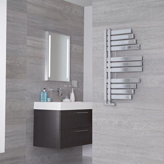 Lazzarini Way - Spinnaker - Chrome Designer Heated Towel Rail - 800mm x 463mm