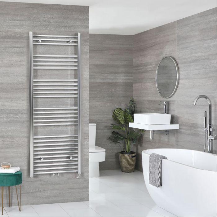 Milano Neva Electric - Chrome Heated Towel Rail 1600mm x 500mm