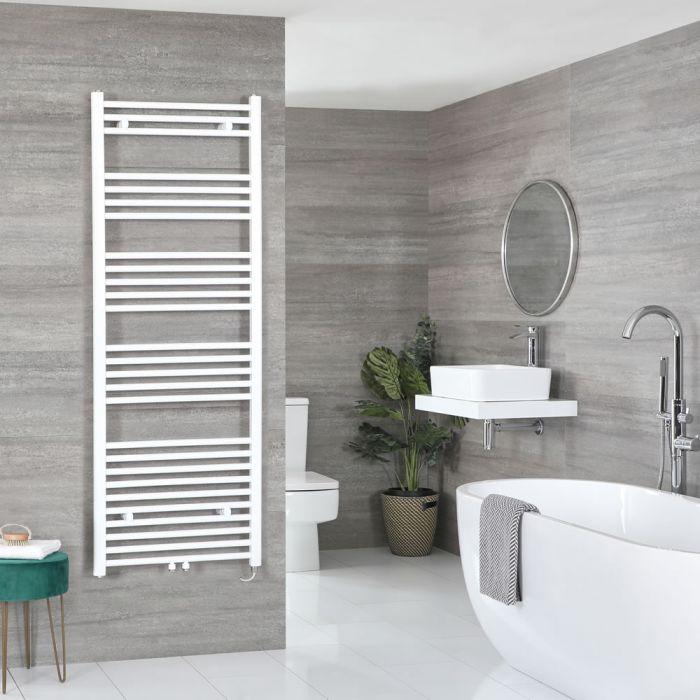 Milano Neva Electric - White Heated Towel Rail 1600mm x 500mm