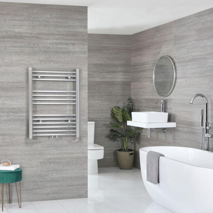 Milano Neva Electric - Chrome Heated Towel Rail 803mm x 500mm