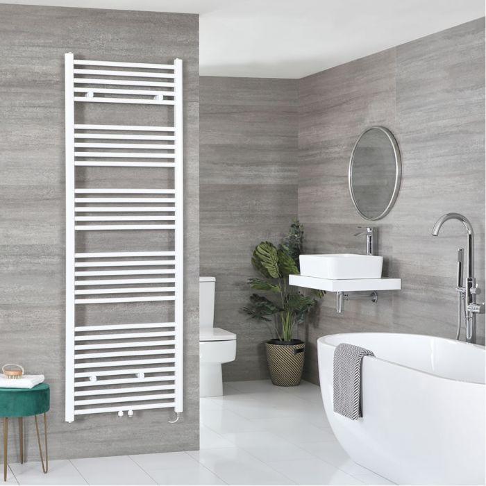Milano Neva Electric - White Heated Towel Rail 1785mm x 600mm