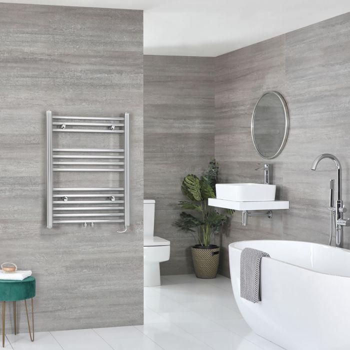 Milano Neva Electric - Chrome Heated Towel Rail 803mm x 600mm