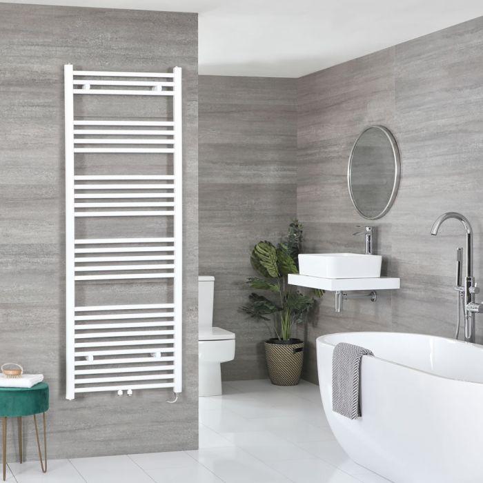 Milano Neva Electric - WhiteHeated Towel Rail 1600mm x 600mm