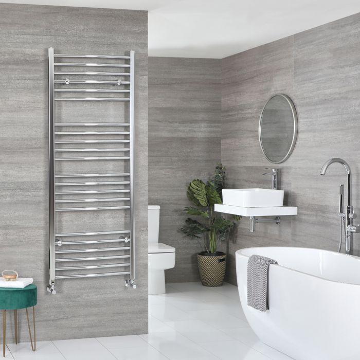 Milano Kent - Curved Chrome Heated Towel Rail 1600mm x 500mm