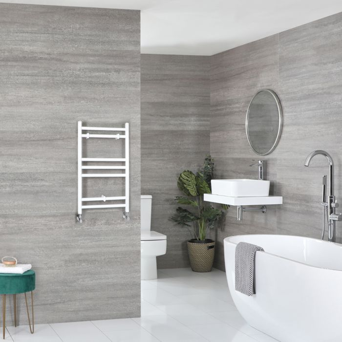 Milano Ive - Flat White Heated Towel Rail 600mm x 400mm