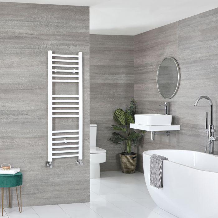 Milano Ive - Flat White Heated Towel Rail 1200mm x 400mm