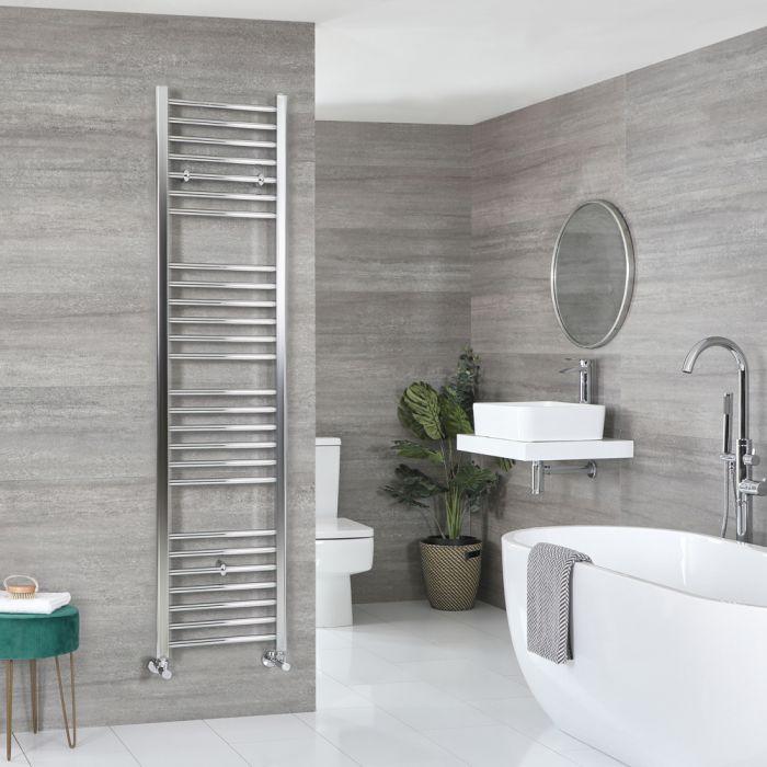 Milano Kent - Flat Chrome Heated Towel Rail 1800mm x 400mm