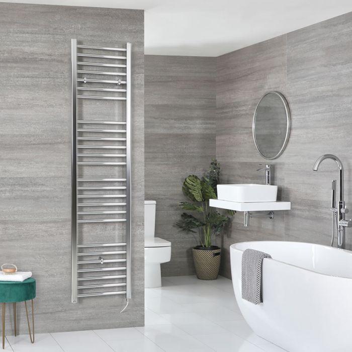 Milano Kent Electric - Flat Chrome Heated Towel Rail 1800mm x 400mm