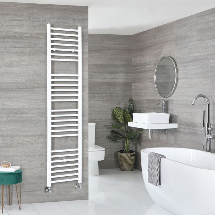 Milano Ive - Flat White Heated Towel Rail 1800mm x 400mm