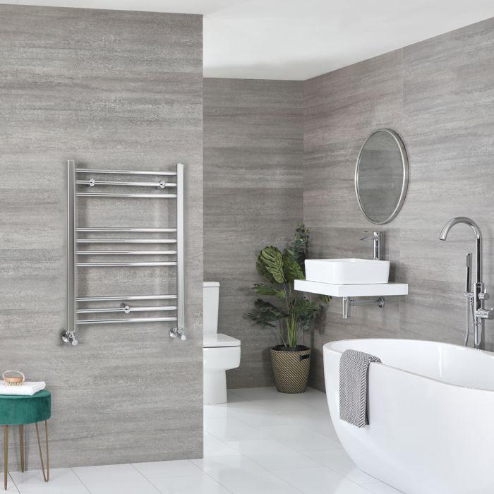 Milano Kent - Flat Chrome Heated Towel Rail 800mm x 500mm