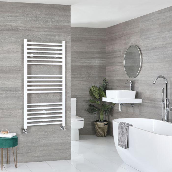 Milano Ive - Flat White Heated Towel Rail 1200mm x 500mm
