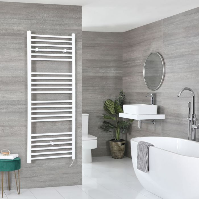 Milano Ive Electric - Flat White Heated Towel Rail 1600mm x 500mm