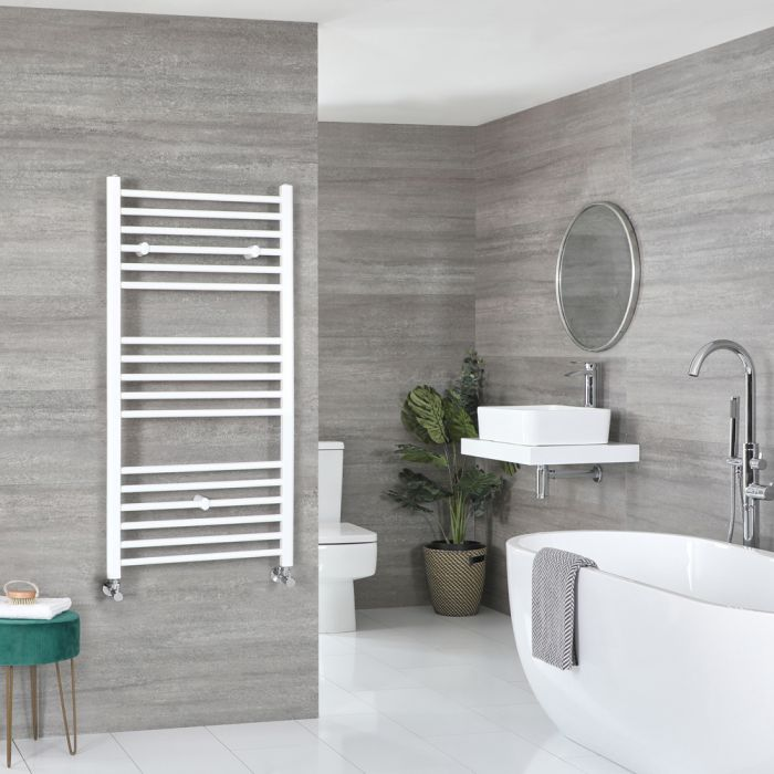 Milano Ive - Flat White Heated Towel Rail 1200mm x 600mm