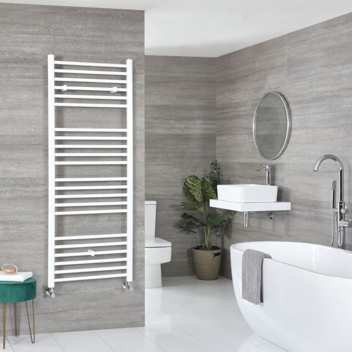 Milano Ive - Flat White Heated Towel Rail 1600mm x 600mm