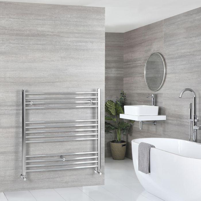 Milano Kent - Flat Chrome Heated Towel Rail 1000mm x 1000mm