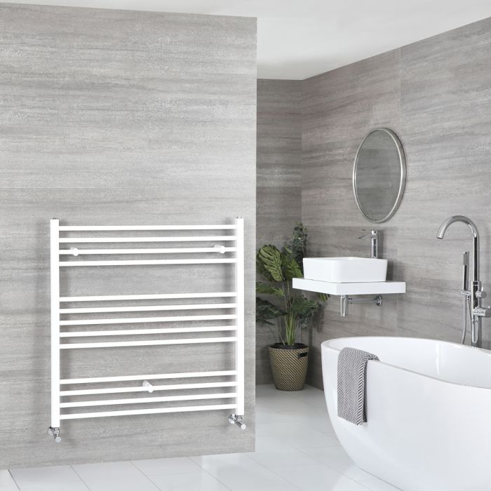Milano Ive - Flat White Heated Towel Rail 1000mm x 1000mm