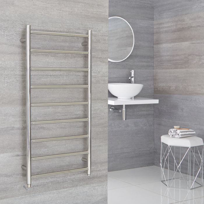 Milano Esk - Electric Stainless Steel Flat Heated Towel Rail - 1000mm x 500mm