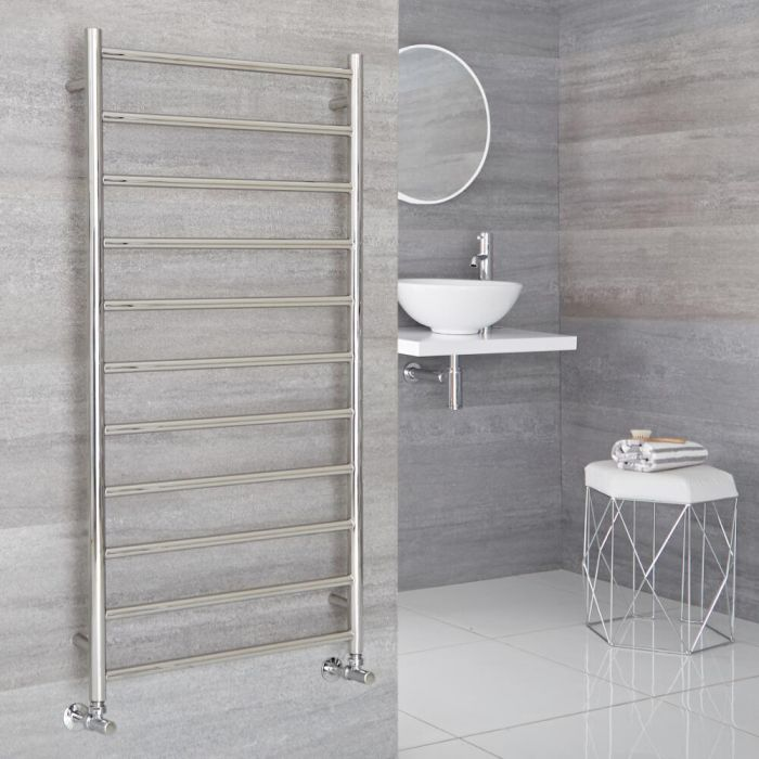 Milano Esk - Stainless Steel Flat Heated Towel Rail - 1200mm x 600mm