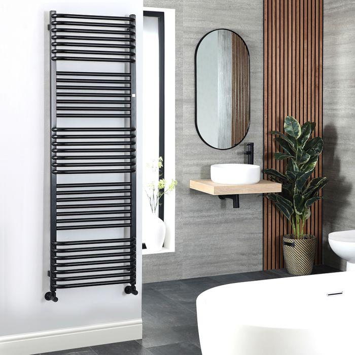 Terma Pola - Black D-Bar Heated Towel Rail 1580mm x 500mm