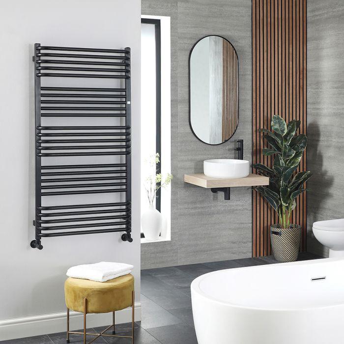 Terma Pola - Black D-Bar Heated Towel Rail 1580mm x 600mm