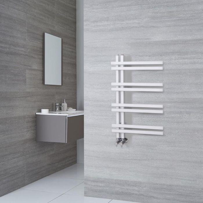 Milano Pars - White Aluminium Designer Heated Towel Rail 800mm x 500mm