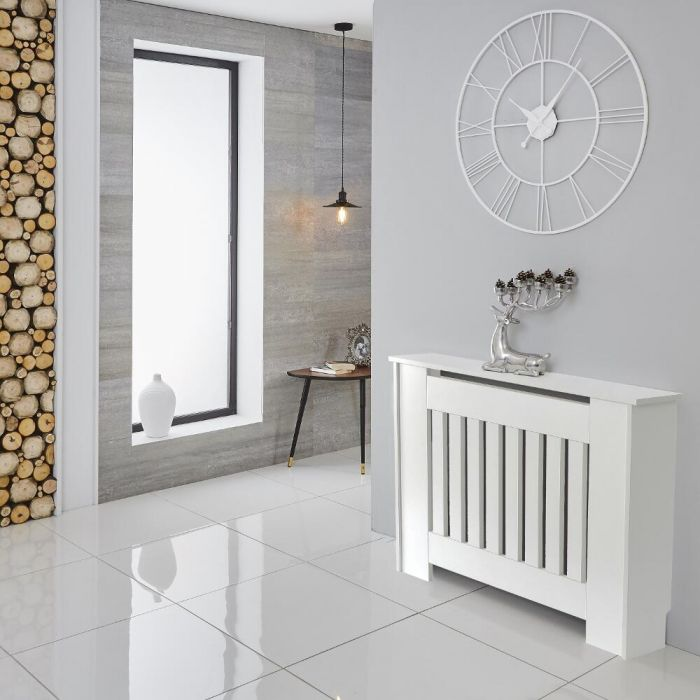 Milano Ealing - White Radiator Cabinet - 815mm x 1120mm